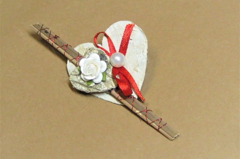 Hochzeitsanstecker Birke Herz