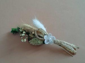 Hochzeitsanstecker Trockenblumen